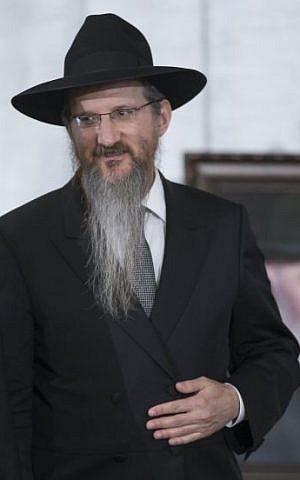 Russia's Chief Rabbi Berel Lazar. (photo credit: AP Photo/Alexander Zemlianichenko)