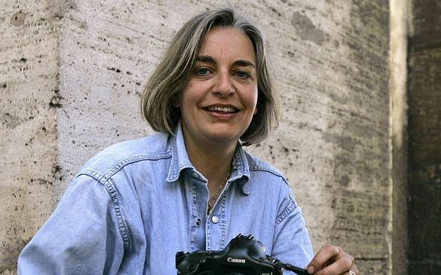 In this Thursday, April 2005 file photo, Associated Press photographer Anja Niedringhaus poses for a photograph in Rome. (photo credit: AP/Peter Dejong, File)