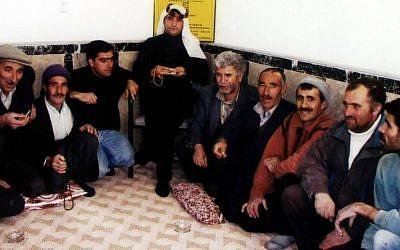 Sait Ali Bayrak, seated, and members of the Heylani Kebir tribe (Photo courtesy of Sait Ali Bayrak)