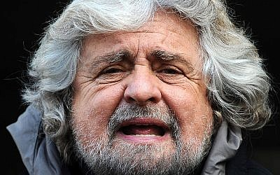 Beppe Grillo (photo credit: Niccolò Caranti/Wikipedia)