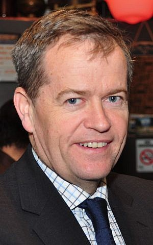 Australian opposition leader and Labor party chief Bill Shorten (photo credit: CC BY-SA Peter Campbell, Wikimedia Commons)
