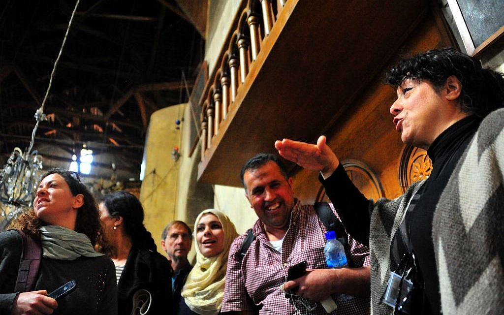 At the Church of the Nativity in Bethlehem (photo credit: copyright/Bruce Shaffer)