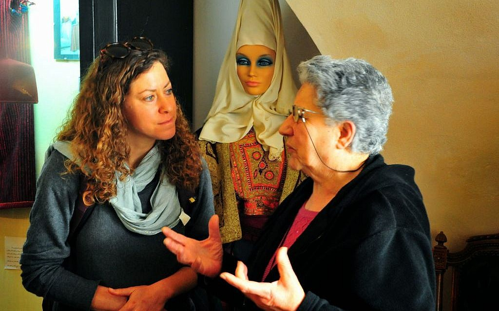 Listening to an explanation about traditional Arab life in Bethlehem (photo credit: copyright/Bruce Shaffer)