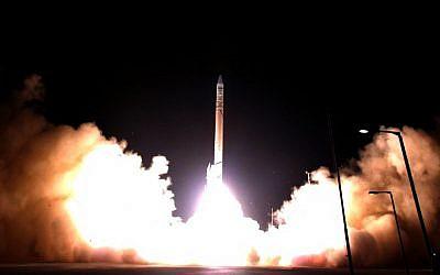 Illustrative photo of an Israeli satellite launch in 2007 (photo credit: Flash 90)