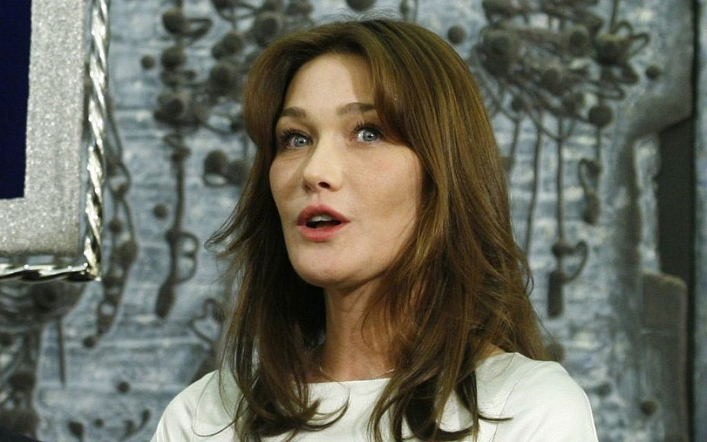 Carla Bruni 'crazy about Israel'   The Times of Israel