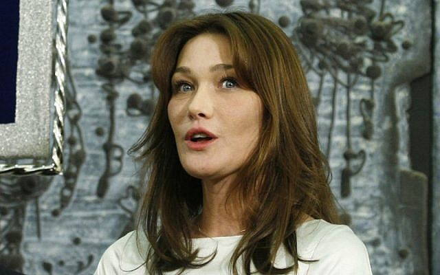 Carla Bruni during a previous visit to Israel in 2008 (photo credit: Michal Fattal/Flash90)