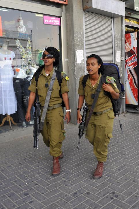 Soldiers of Ethiopian heritage near Beersheba (photo credit: Serge Attal/ Flash 90)