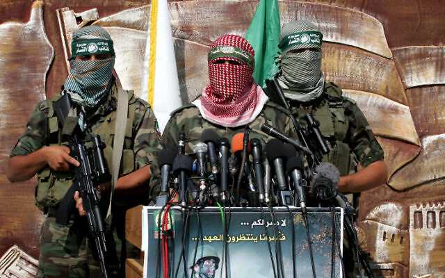 Members of Hamas's Izz ad-Din al-Qassam Brigades (Rahim Khatib/Flash90)