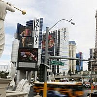 Hotels  on the 'Strip' in Las Vegas (Photo credit: Miriam Alster/FLASH90 )