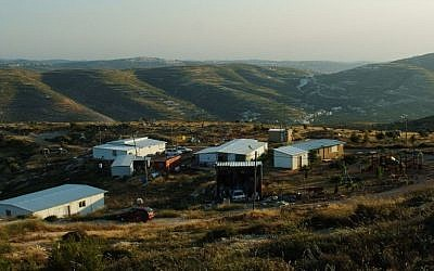 Illustrative photo of the West Bank settlement of Yitzhar, May 2013 (Mandy Hechtman/Flash90)
