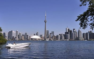 The skyline of downtown Toronto, Ontario, Canada, June 12, 2013. (Serge Attal/Flash90)