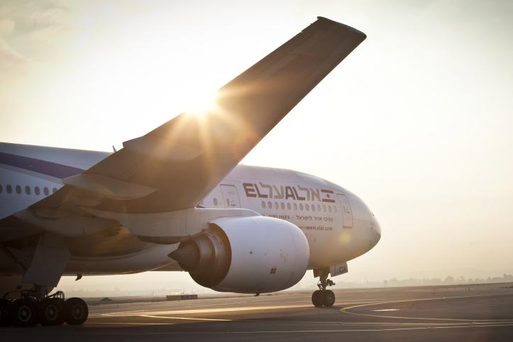 Illustrative photo of an El Al aircraft on the runway (photo credit: Moshe Shai/FLASH90)