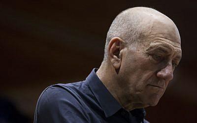Former prime minister Ehud Olmert, January 2014 (photo credit: Yonatan Sindel/Flash90)