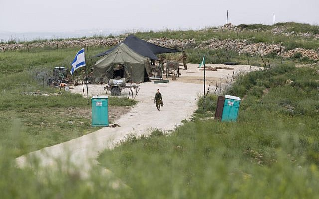 Rebuilding and then some. The IDF rebuilt an army outpost that was destroyed by right-wing settlers last week. Israeli Border Police also took control of a yeshiva in Yitzhar in response to the violence. (photo credit: Flash90)