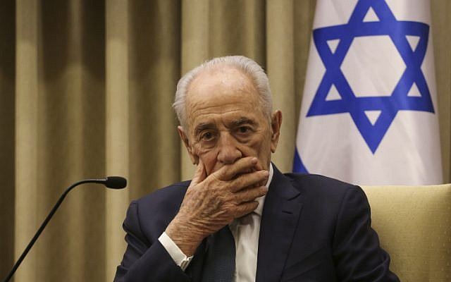 President Shimon Peres at the President's residence in Jerusalem, April 28, 2014. (photo credit: Hadas Parush/Flash 90)