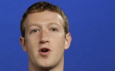 Facebook CEO Mark Zuckerberg speaks at Facebook headquarters in Menlo Park, Calif. (photo credit: AP Photo/Jeff Chiu, File)