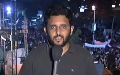 Muslim Brotherhood Spokesman Gehad el-Hadad (screen capture: YouTube)