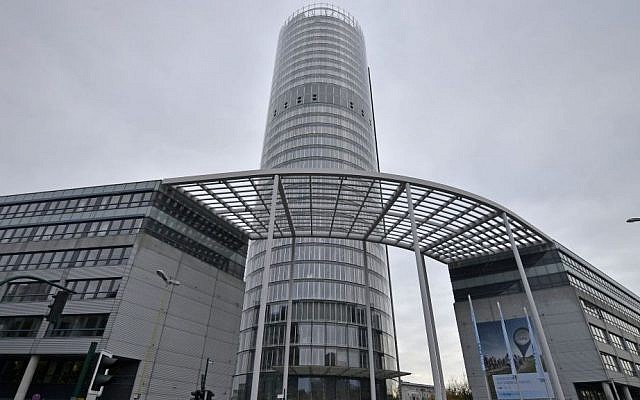 The headquarters of German power provider RWE in Essen, Germany. (AP Photo/Martin Meissner)