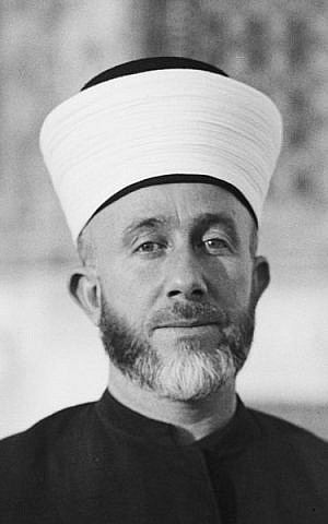 Haj Amin al-Husseini (photo credit: American Colony (Jerusalem), Photo Dept./Wikipedia)