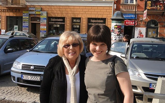 Janet Singer Applefield with Karolina Panz in Nowy Targ in 2013 (courtesy)