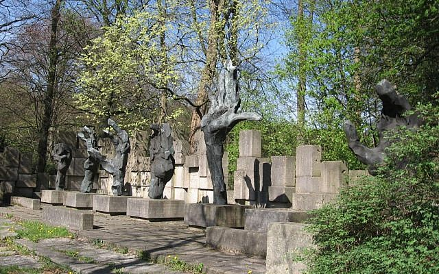 Jewish monument in Groningen, Netherlands. (photo credit: ZanderZ, Wikimedia Commons)