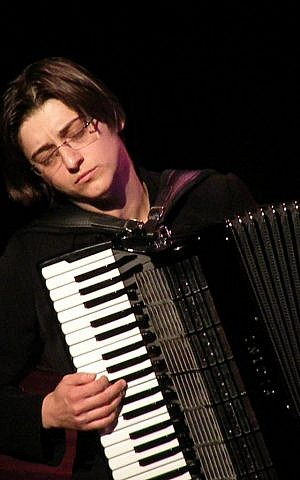 Accordionist and composer Merima Kljuco (photo credit: Jose de Vries)