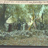 Prayer at Nabi Musa (May 1910) (photo credit: © DEIAHL, Jerusalem)