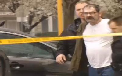 Frazier Glenn Miller, the suspect in Overland Park JCC shootings is arrested, April 13, 2015. (Screen capture: KCTV)