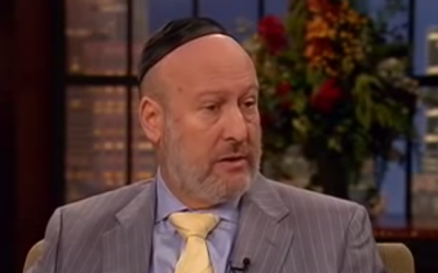 Rabbi Daniel Lapin appears on the 700 Club, Monday (photo credit: screenshot via YouTube)