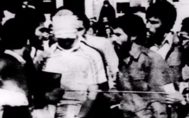 Hostage Barry Rosen and 51 others were held by student extremists at the US Embassy in Tehran, Iran, for more than a year, beginning on Nov. 4, 1979. (photo credit: screenshot via YouTube)