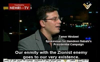 Tamer Hindawi (photo credit: MEMRI screenshot)