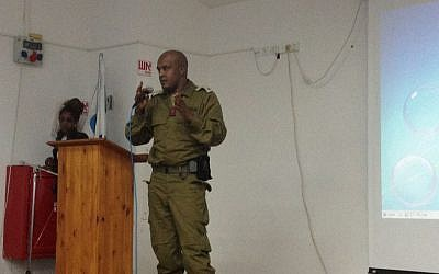 Maj. (res) Abebe Biyenson (photo credit: Mitch Ginsburg/ Times of Israel)