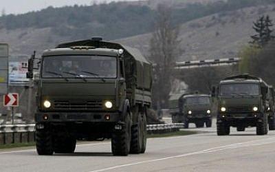 Russian military vehicles (Photo: AP/Darko Vojinovic)