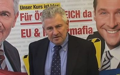 Far-right Austrian parliament member Andreas Moelzer (photo credit: Youtube screenshot)