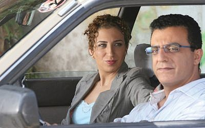 Clara Khoury, left, and Norman Issa in Arab Labor, a satirical comedy in Hebrew and Arabic written by author Sayed Kashua. (Other Israel Film Festival)