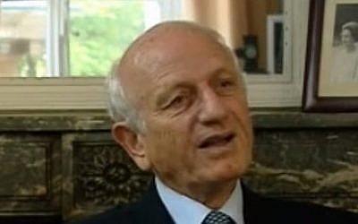 Moroccan royal adviser Andre Azoulay (photo credit: Youtube screenshot)