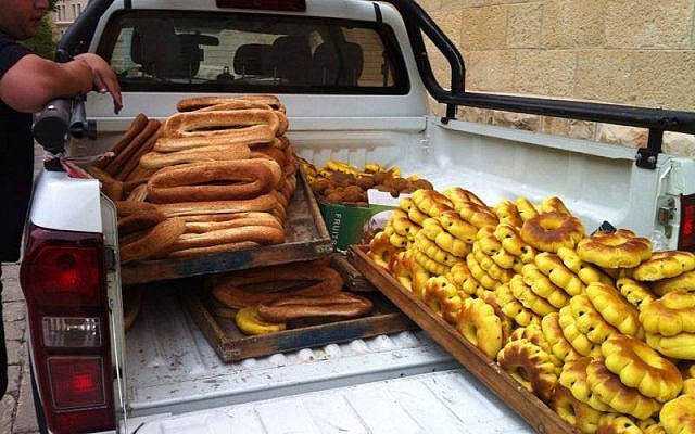The breads confiscated from the Jaffa Gate vendors (photo credit: Facebook/Arieh King)