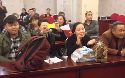 Members of the Kaifeng Jewish community attend an event. (photo credit: image capture YouTube)