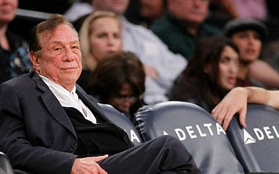 Los Angeles Clippers owner Donald Sterling watches the second half of an NBA preseason basketball game between the Los Angeles Clippers and the Los Angeles Lakers in Los Angeles,  In this Monday, Dec. 19, 2010. (photo credit: AP/Danny Moloshok)