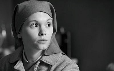 Agata Trzebuchowska plays Anna, a nun who discovers she is actually a Jew named Ida, just days before taking her vows, in Pawel Pawkikoski's new film. (courtesy: Music Box Films)