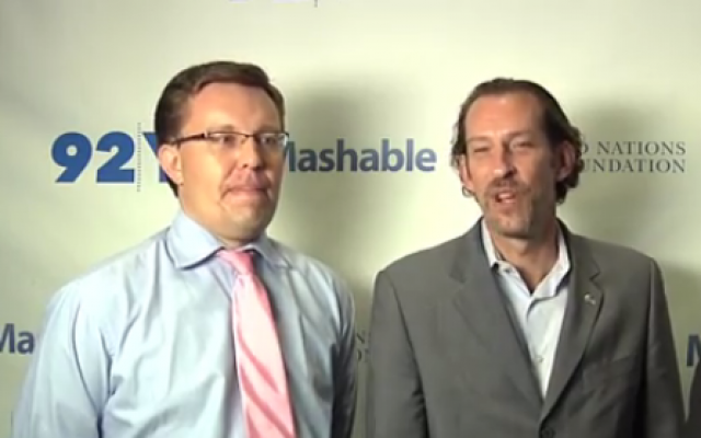 New director of the 92nd Street Y Henry Timms (left). (screen capture: YouTube)