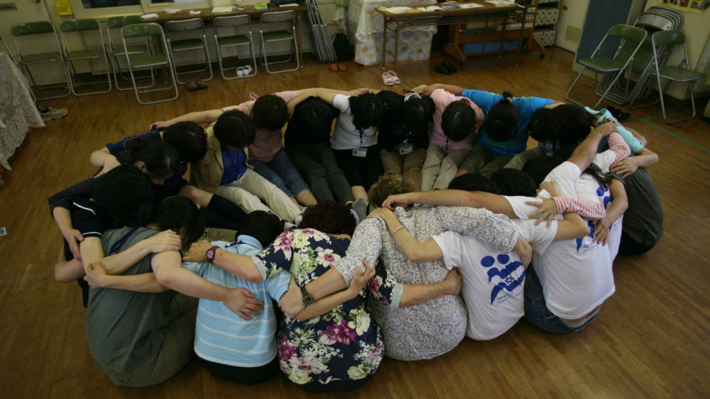 A therapy circle at an IsraAid session. (photo credit: courtesy IsraAid)