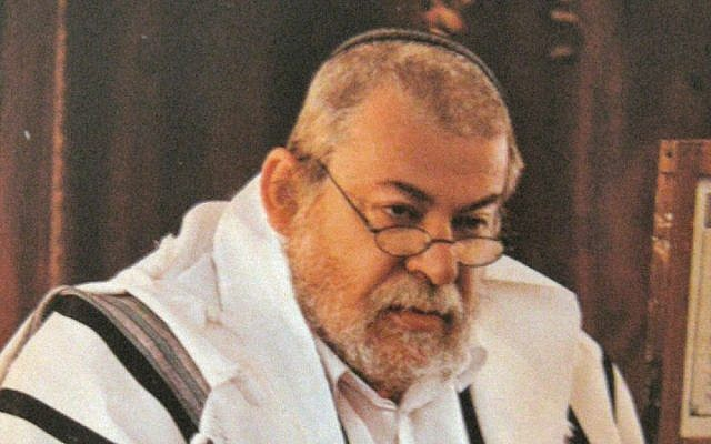 Rabbi Karol Efraim Sidon in 2006 (photo credit: public domain/Wikimedia Commons)