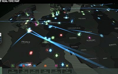 Kaspersky Lab's Worldwide Interactive Cyberthreat Map (Photo credit: Courtesy)