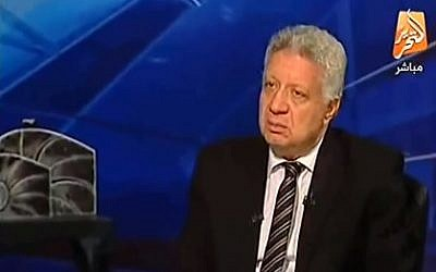 Egyptian presidential hopeful Mortada Mansour (photo credit: Youtube screenshot)