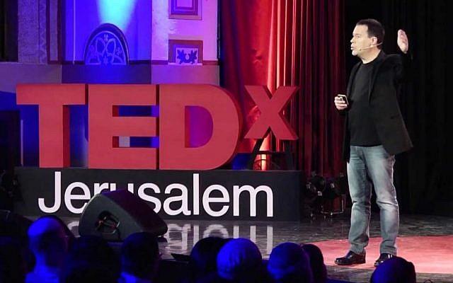 MK Yanki Margalit speaks at the 2013 TEDx Israel event, held in Jerusalem (Photo credit: Courtesy)