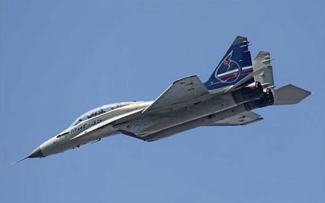 The Russian MiG-35 aircraft (photo credit: Youtube screenshot)