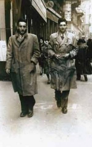 Harari, left, in Milan in 1947 (photo credit: courtesy of Mike Harari)