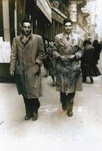 Harari, left, in Milan in 1947 (photo credit: courtesy of Mike Harari)