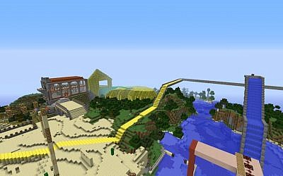 Minecraft scene (Photo credit: Courtesy)